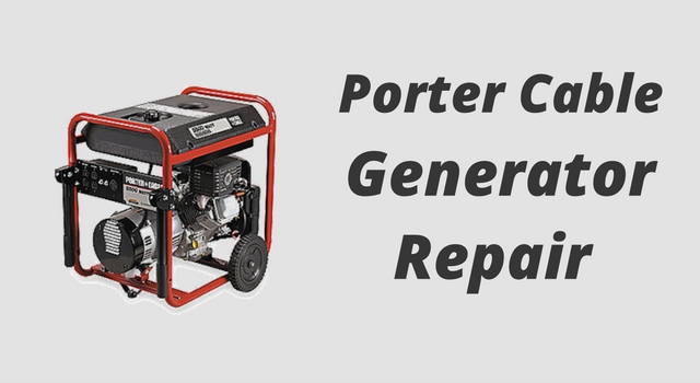 porter cable generator repair